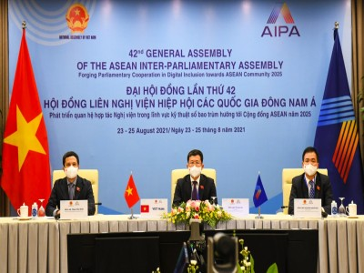 Việt Nam tham dự Đại hội đồng AIPA lần thứ 42 từ 23-25 /8