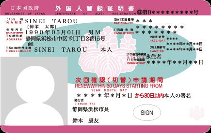 Ảnh: Mẫu Thẻ đăng ký ngoại kiều